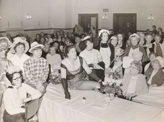 Taken in the early seventies when the choir entertained senior citizens at  a lunch party at the Town Hall, three of those members are in the choir today